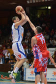 Kaposvar - Nyiregyhaza basketball game — Stock Photo