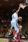 Kaposvar - nyiregyhaza basketbol oyunu — Stok fotoğraf