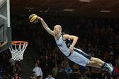 Face Team acrobatic basketball show — Stock Photo