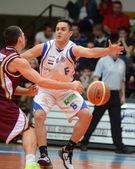 Kaposvar - Debrecen basketball game — Stock Photo
