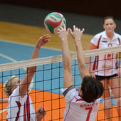 Kaposvár - bse volejbal hry — Stock fotografie