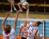 Kaposvar - BSE volleybal game — Стоковое фото