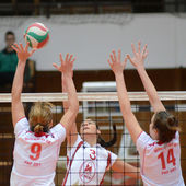 Kaposvar - BSE volleybal game — Stockfoto