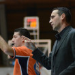 Kaposvar - Pecs basketball game — Stockfoto