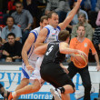 Foto Stock: Kaposvar - Pecs basketball game