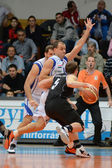 Kaposvar - Pecs basketball game — Stock Photo
