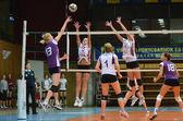 Kaposvar - Ujpest volleyball game — Stock Photo