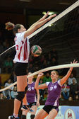Kaposvar - ujpest jeu de volley-ball — Photo