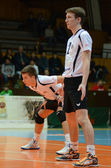 Kaposvar - Innsbruck volleybal game — Stockfoto