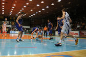 Kaposvar - Sopron basketball game — Stock Photo