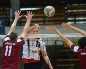 Kaposvar - Dunaferr volleyball game — Stock Photo