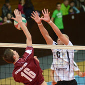 Kaposvar - Dunaferr volleyball game — Stock Photo