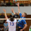 Kaposvar - Kecskemet volleyball game — Foto Stock