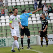 Kaposvar - Szombathely soccer game — Stock Photo
