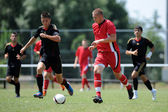 Nagybajom - Liceul Sportiv under 18 soccer game — Stock Photo