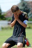 Nagybajom - Liceul Sportiv under 18 soccer game — Stock Photo