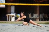 Beach volleyball — Stockfoto