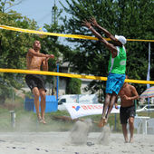 Beach volleyball — Foto Stock