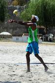 Beach volleyball — Stock Photo