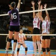 Kaposvar - Ujpest volleyball game — Stock Photo