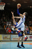 Kaposvar - Fehervar basketball game — Stock Photo
