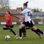 Mädchen-Fußball — Stockfoto