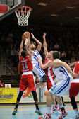 Kaposvar - Paks basketball game — Stockfoto