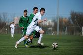 Kaposvar - Ferencvaros under 17 soccer game — Stock Photo