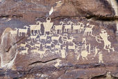 Indian Rock Art — Foto Stock