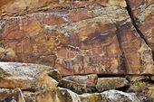 Arte rupestre indiano — Foto Stock