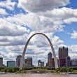 City of St. Louis Skyline, Missouri, USA — Stock Photo