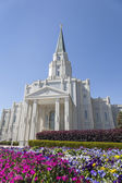 The Houston Texas Temple in Houston, Texas — Stock Photo