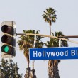 Hollywood Boulevard Sign - Stock Photo