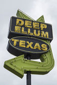 Dallas neighborhood - deep ellum, texas — Stockfoto
