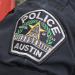 la capitale du texas insigne de police austin — Photo