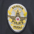 capital de texas placa de policía de austin — Foto de Stock