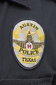 Huvudstad i texas austin polisen badge — Stockfoto