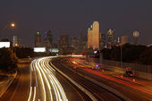Dallas at Night, Texas — Stock Photo