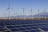 Solar Panels and Wind Turbine Power — Stock Photo
