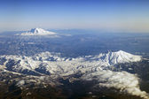 Mt. St. Helens and Mt. Adams, Washington — Stock Photo