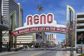 The Sign of Reno Arch, Nevada — Stock Photo
