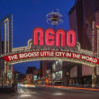 Постер, плакат: The Sign of Reno Arch at Night Nevada