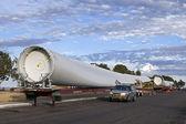 Transport Wind Turbines Blades — Stock Photo