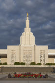 Mormon Temple in Idaho Falls, ID — Stock Photo
