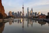 Shanghai Pudong at Sunset, China — Stock Photo