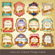 Set of colored vintage labels — Stock Vector #12055657
