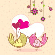 Birds in love - Imagen vectorial