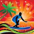 Royalty-Free Stock Immagine Vettoriale: Vector Surfing