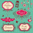 Vintage frame design elements - Stock Vector