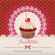 Royalty-Free Stock Vector Image: Vintage card with cupcake
